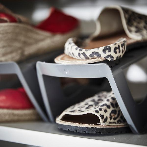 MURVEL Rangement chaussures, gris, 14x14x24 cm