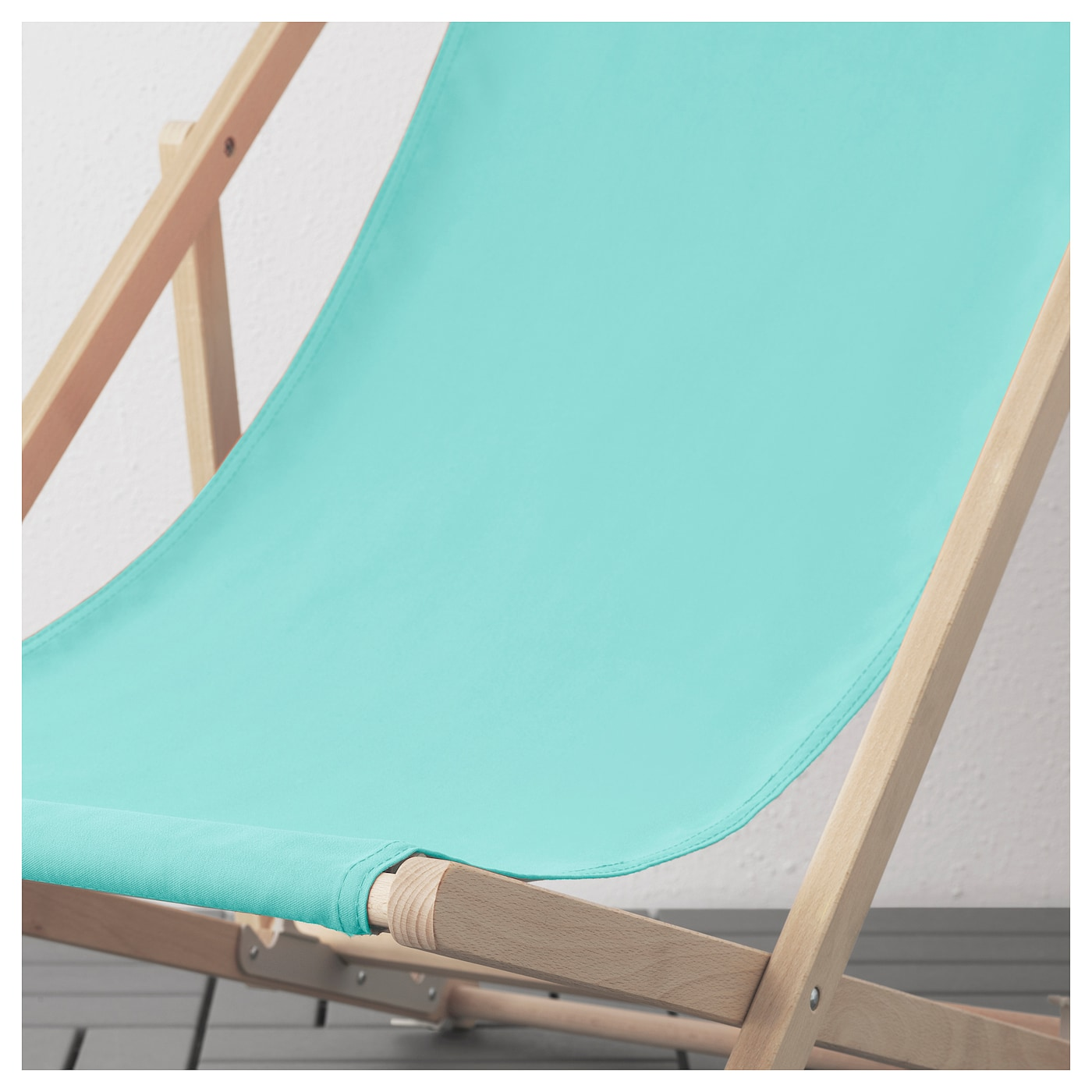 Mysings chaise de plage turquoise ikea for Chaise de plage