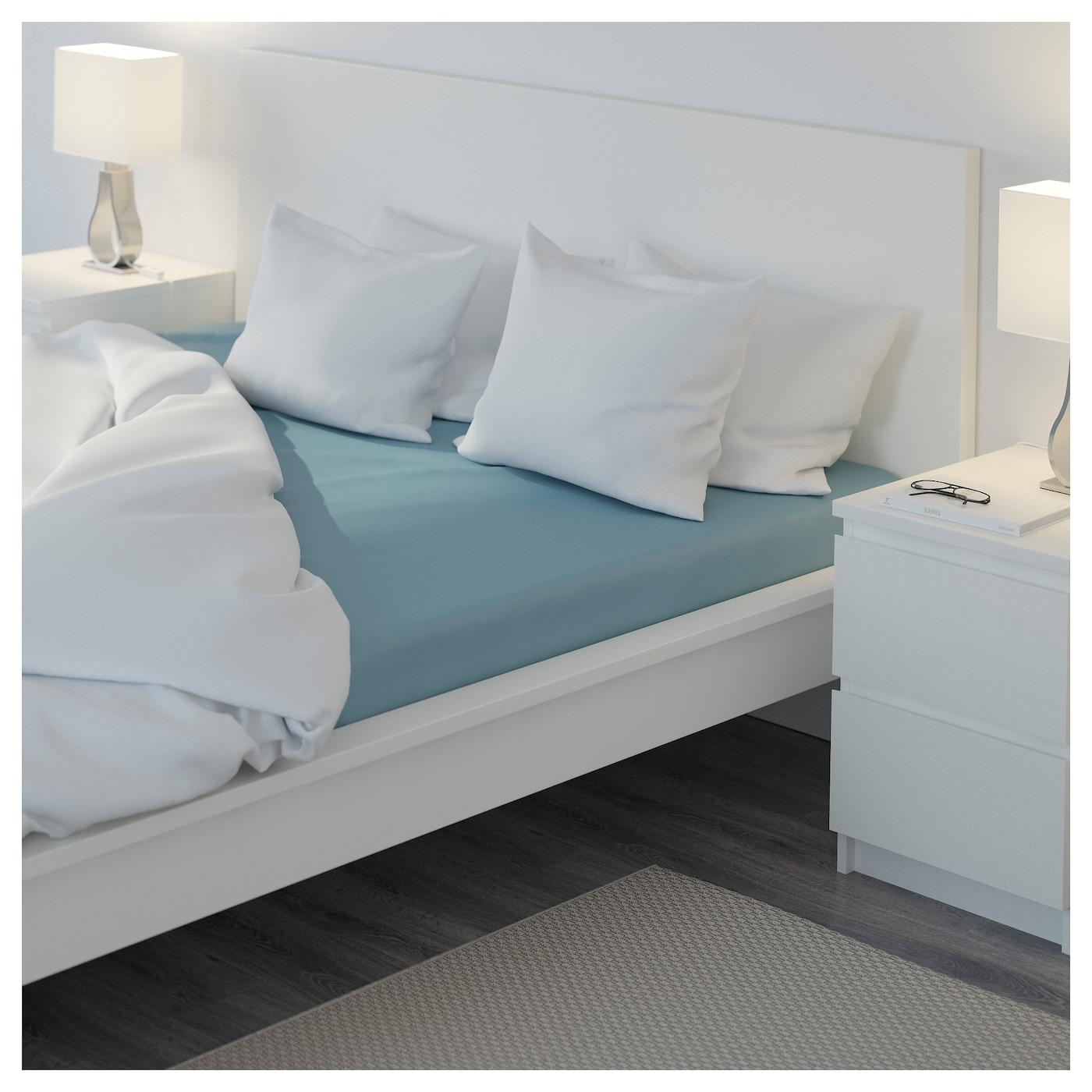 nattjasmin drap housse bleu 160x200 cm ikea. Black Bedroom Furniture Sets. Home Design Ideas