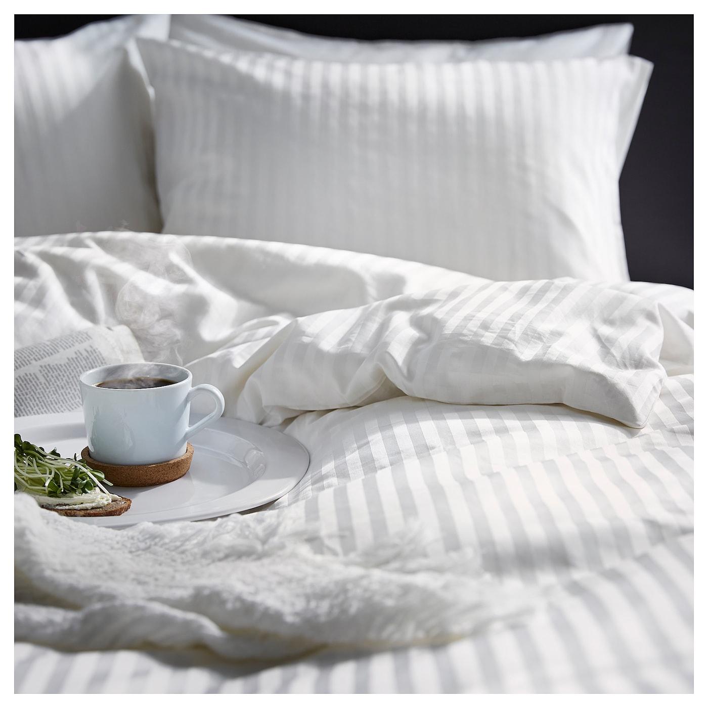 Nattjasmin housse de couette et 2 taies blanc 240x220 for Housse de lit ikea