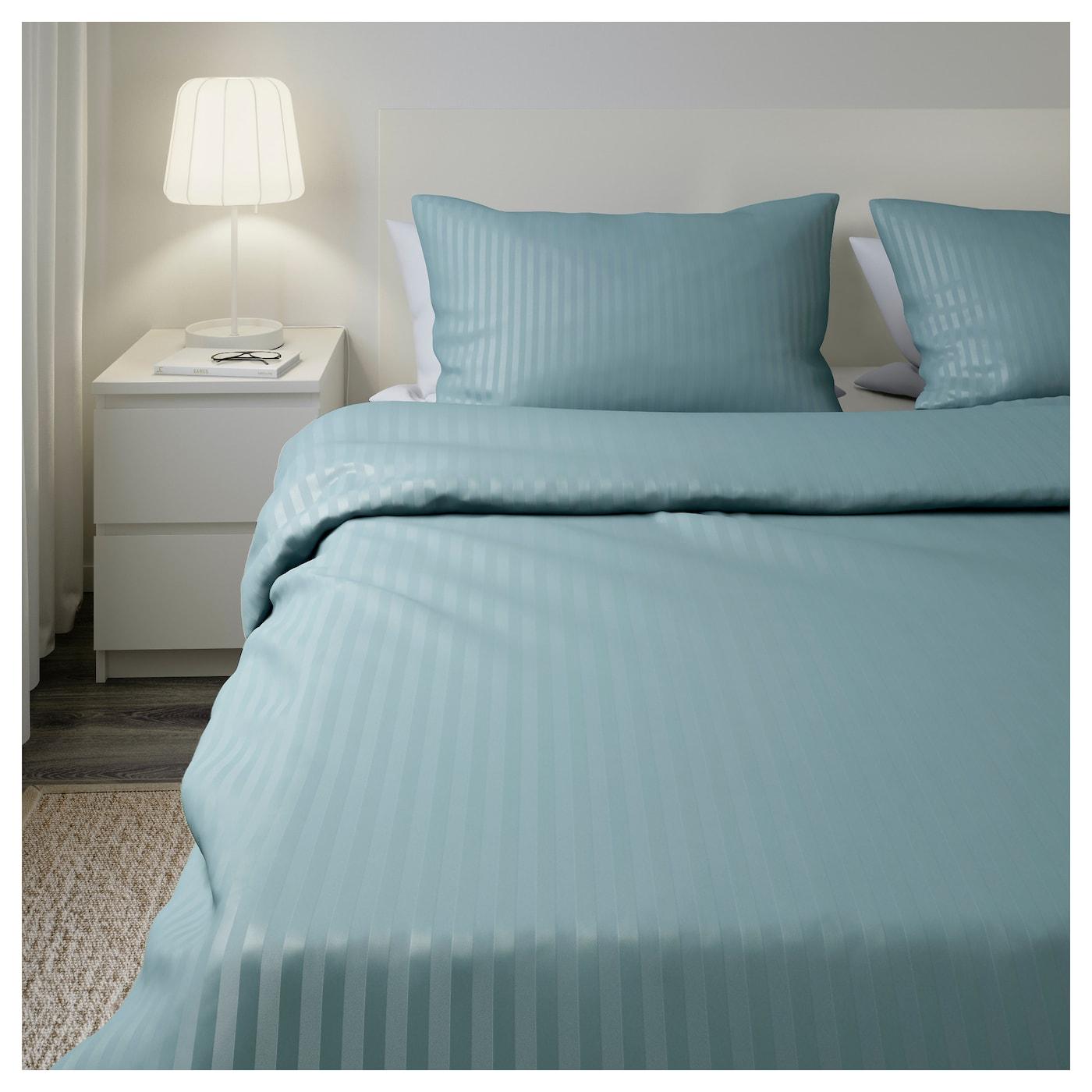 Nattjasmin Housse De Couette Et 2 Taies Bleu 240 X 220 50 X 60 Cm Ikea