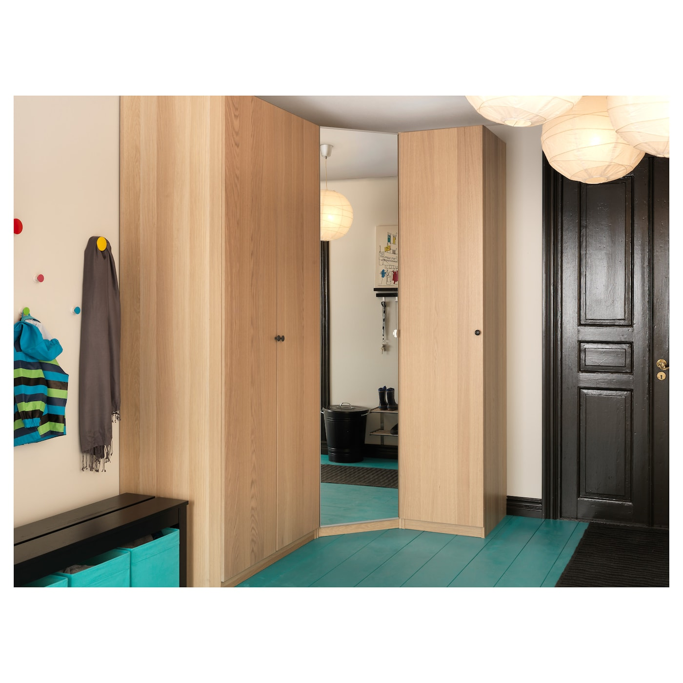 nexus porte avec charni res plaqu ch ne blanchi 50x195 cm ikea. Black Bedroom Furniture Sets. Home Design Ideas