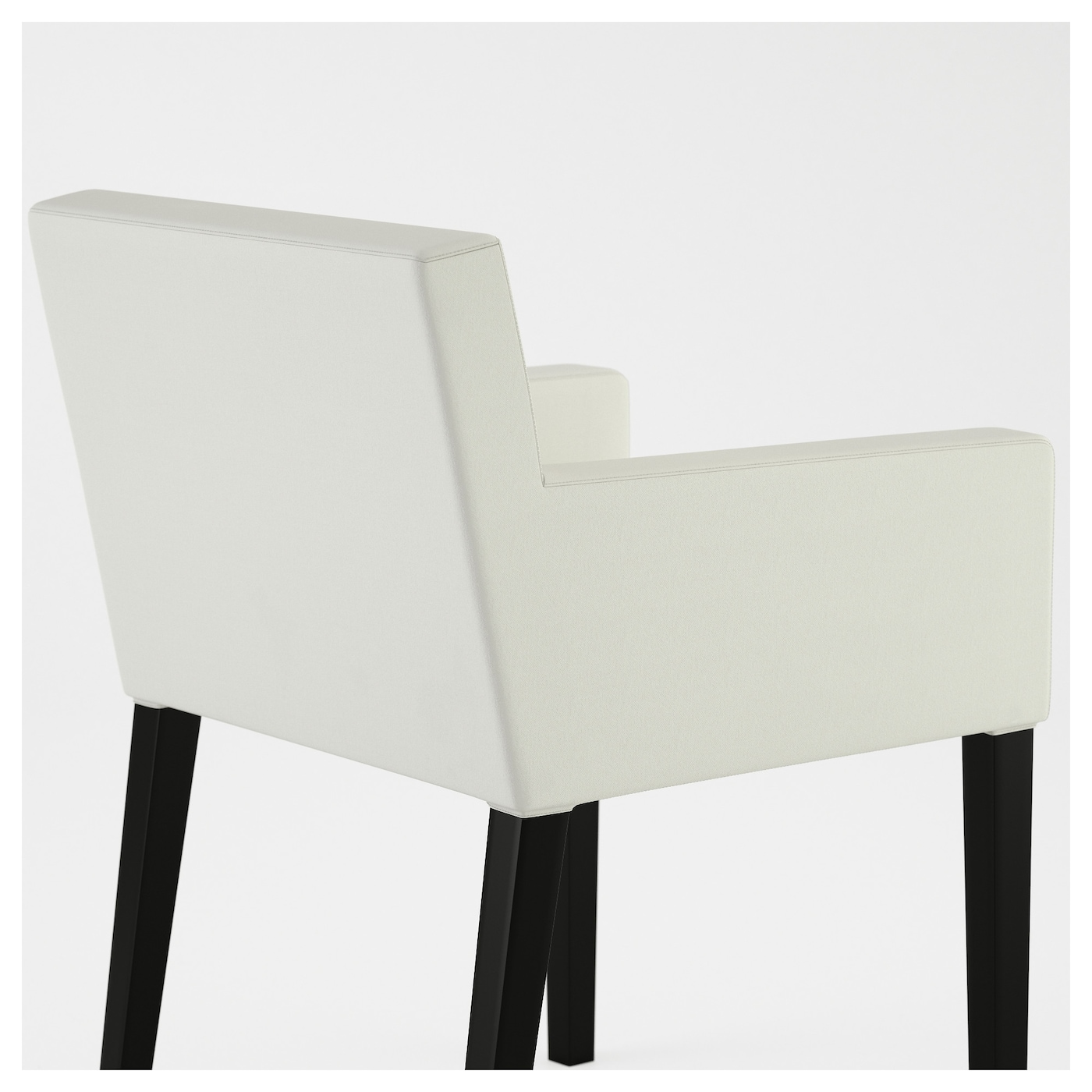 nils chaise accoudoirs noir blekinge blanc ikea. Black Bedroom Furniture Sets. Home Design Ideas