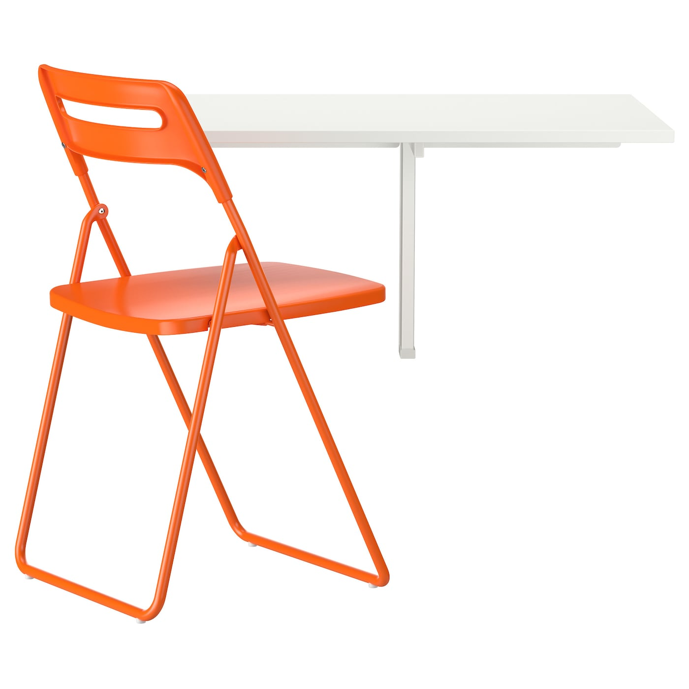 Nisse norberg table et 1 chaise blanc orange 74 cm ikea for Table et chaise ikea