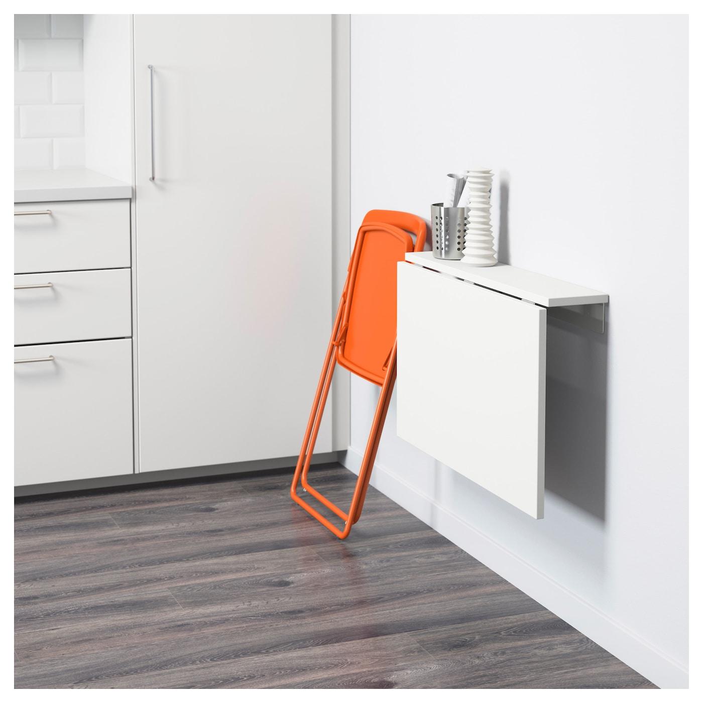 nisse norberg table et 1 chaise blanc orange 74 cm ikea. Black Bedroom Furniture Sets. Home Design Ideas