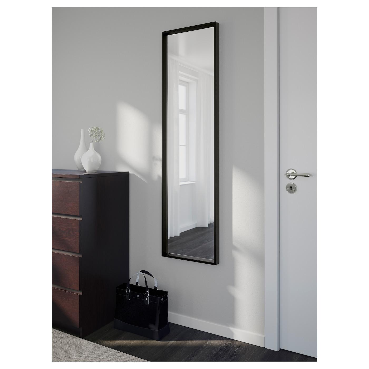 nissedal miroir noir 40x150 cm ikea. Black Bedroom Furniture Sets. Home Design Ideas
