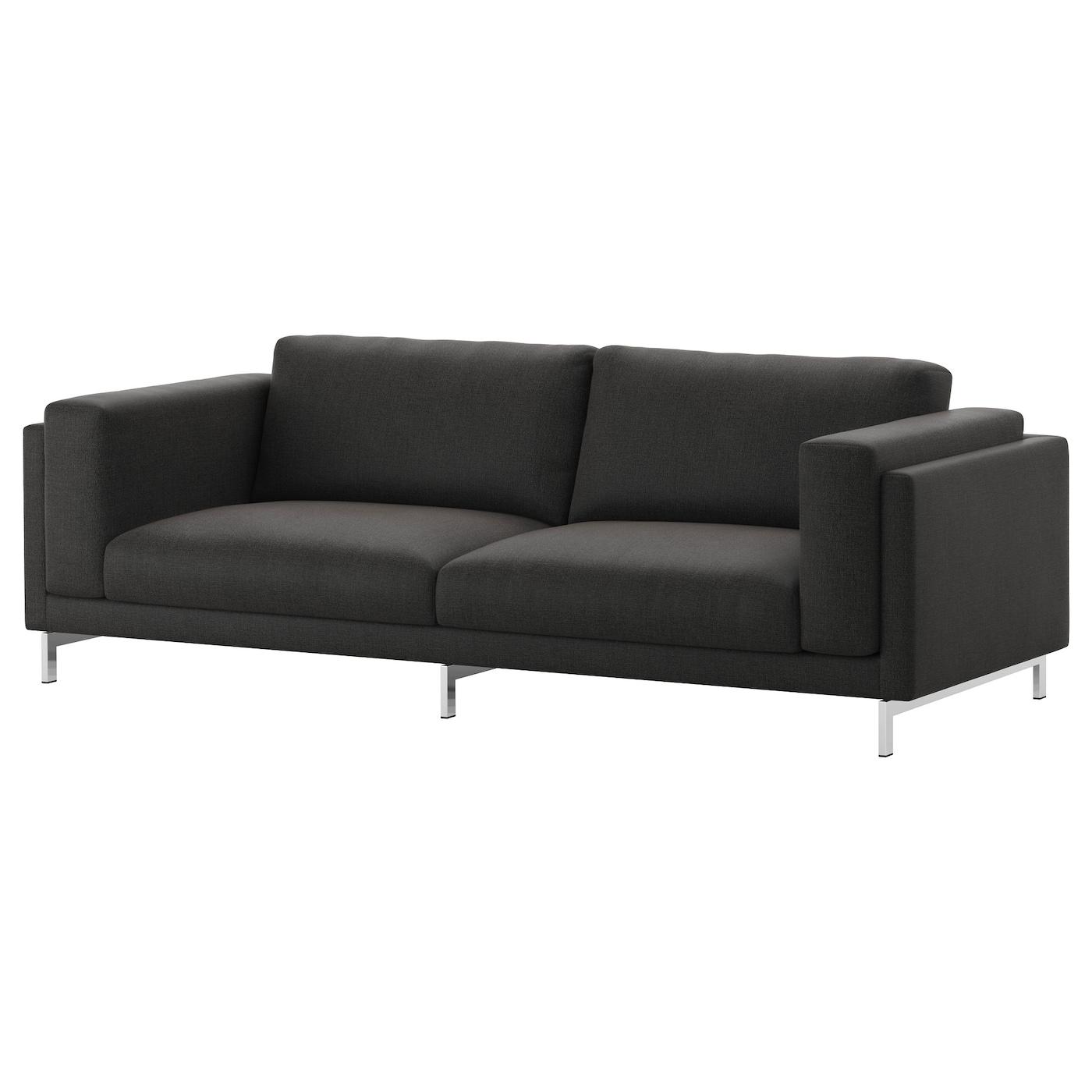 nockeby housse de canap 3pla ten gris fonc ikea. Black Bedroom Furniture Sets. Home Design Ideas