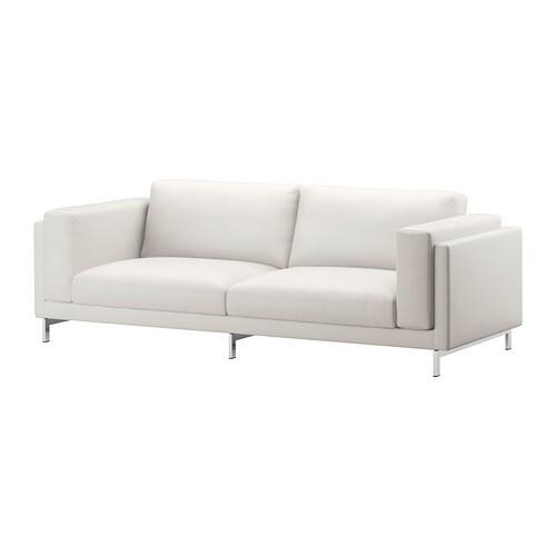 nockeby housse de canap 3pla risane blanc ikea. Black Bedroom Furniture Sets. Home Design Ideas