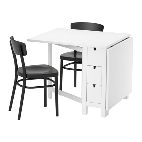 norden idolf table et 2 chaises ikea. Black Bedroom Furniture Sets. Home Design Ideas