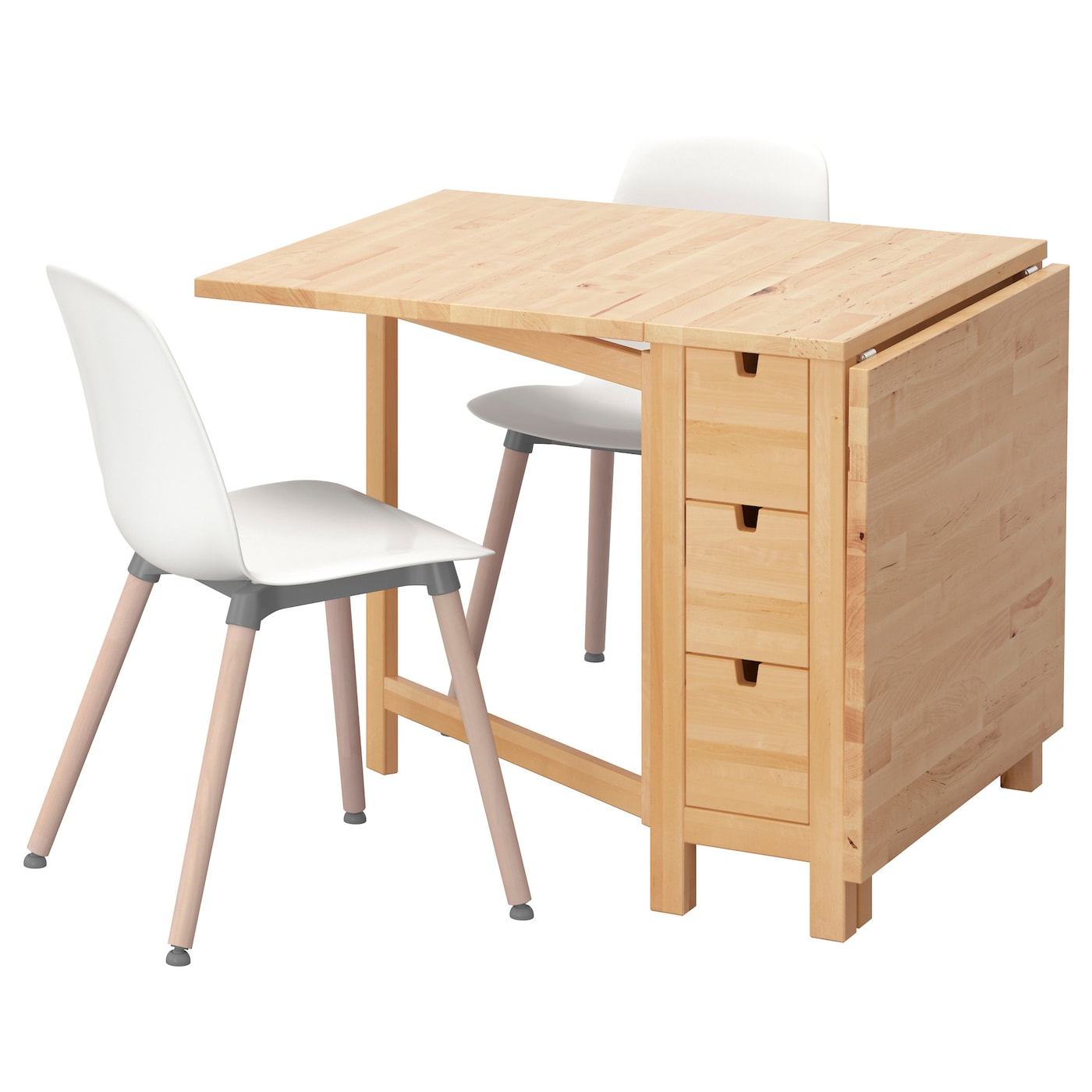 norden leifarne table et 2 chaises bouleau blanc 89 cm ikea. Black Bedroom Furniture Sets. Home Design Ideas