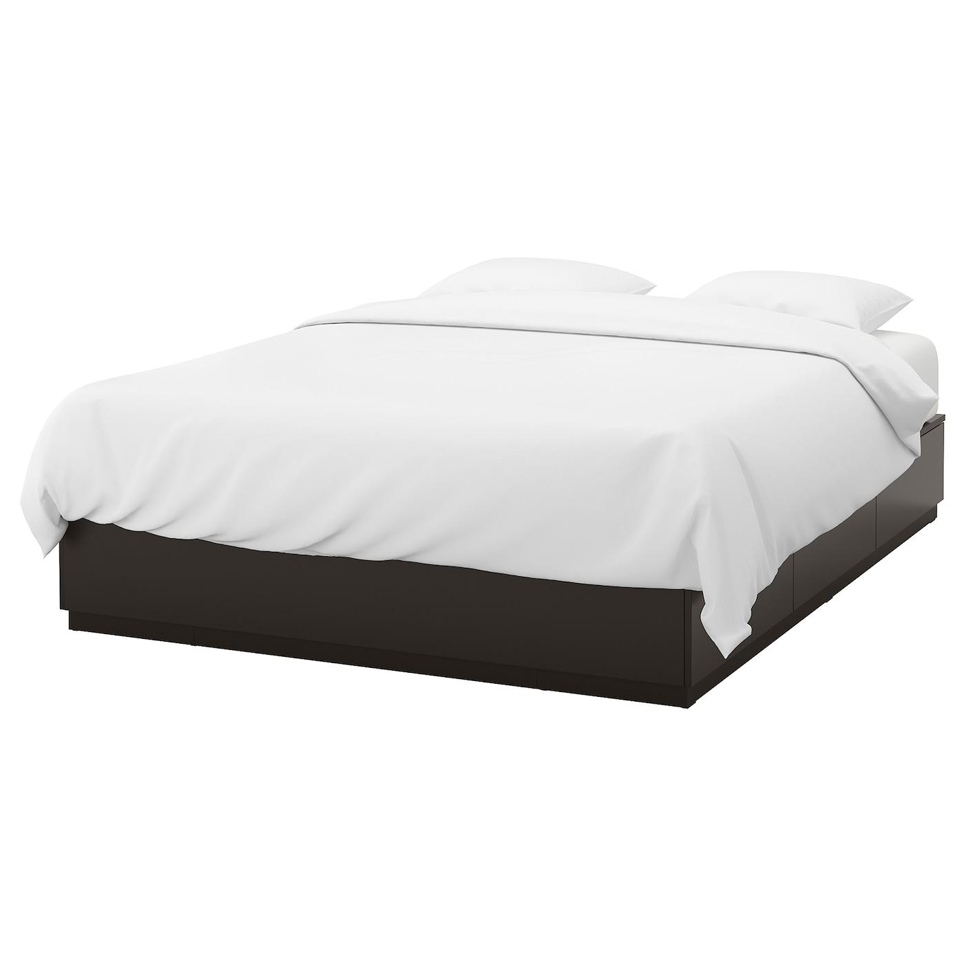 Nordli cadre lit avec rangement anthracite 140 x 200 cm ikea - Cadre de lit avec rangement ...