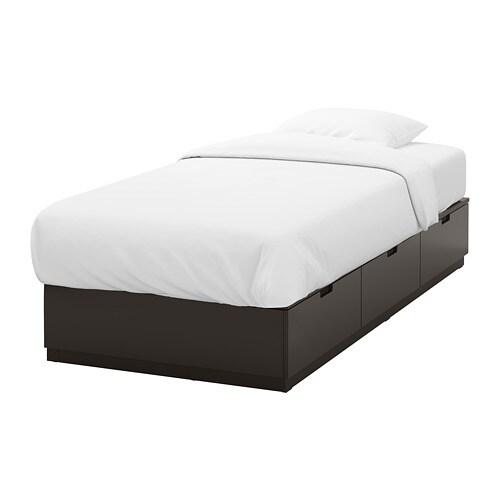 NORDLI Cadre Lit Avec Rangement Anthracite X Cm IKEA - Lit avec rangement 90x200