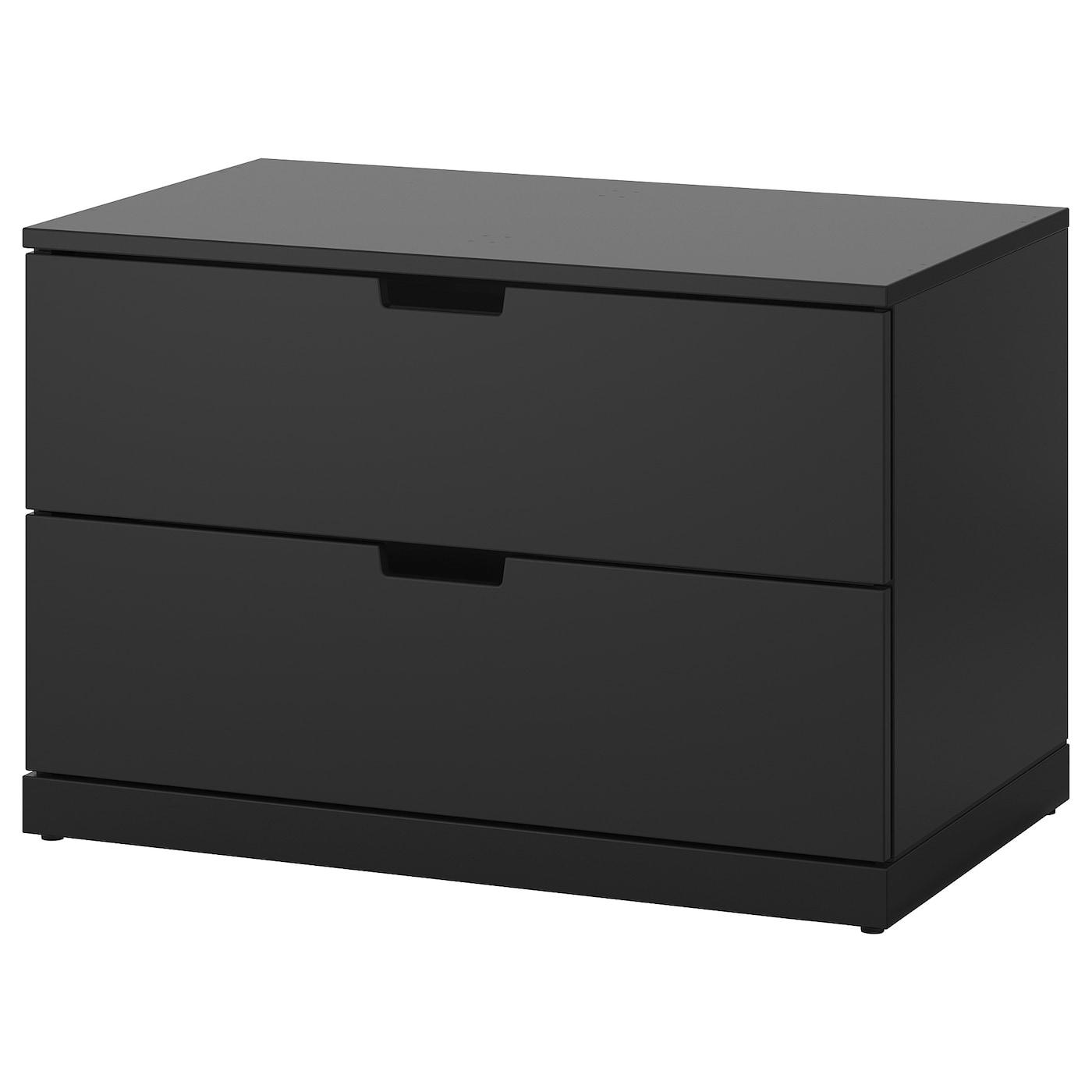 nordli commode 2 tiroirs anthracite 80 x 54 cm ikea. Black Bedroom Furniture Sets. Home Design Ideas