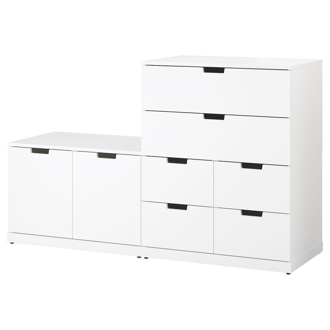 nordli commode 8 tiroirs blanc 160 x 99 cm ikea. Black Bedroom Furniture Sets. Home Design Ideas
