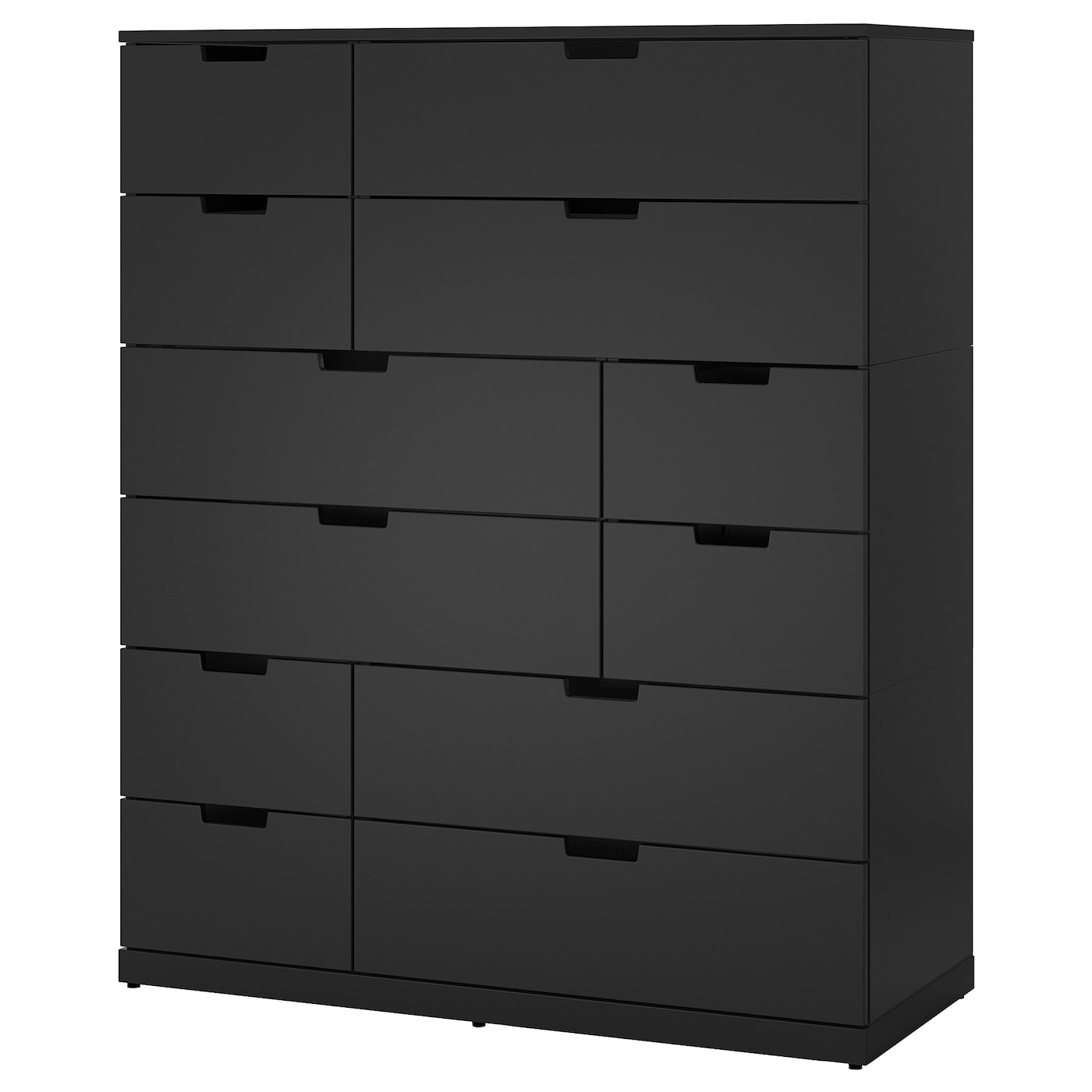 nordli commode avec 12 tiroirs anthracite 120 x 145 cm ikea. Black Bedroom Furniture Sets. Home Design Ideas