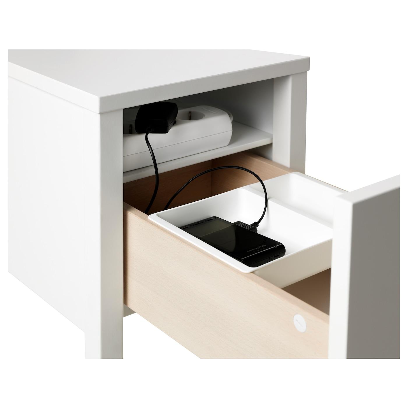 nordli table de chevet blanc 30 x 50 cm ikea. Black Bedroom Furniture Sets. Home Design Ideas