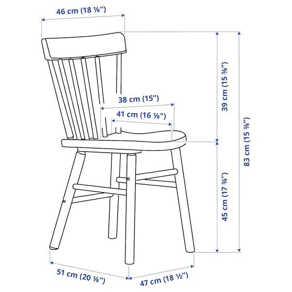 NORDVIKEN / NORRARYD Table et 4 chaises, blanc/noir, 152/223x95 cm