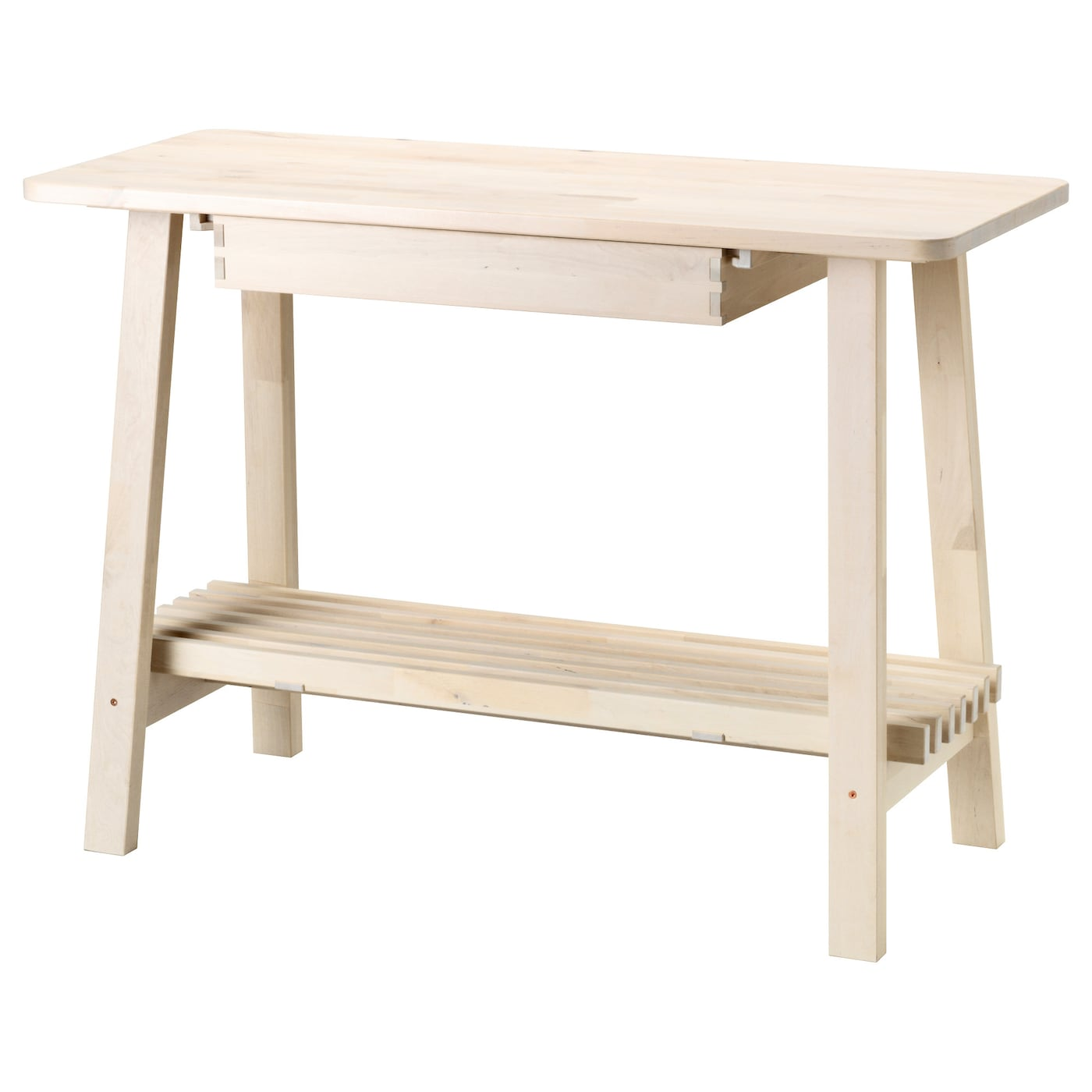 Norr ker table d 39 appoint blanc bouleau 120x50 cm ikea - Table d appoint ikea ...