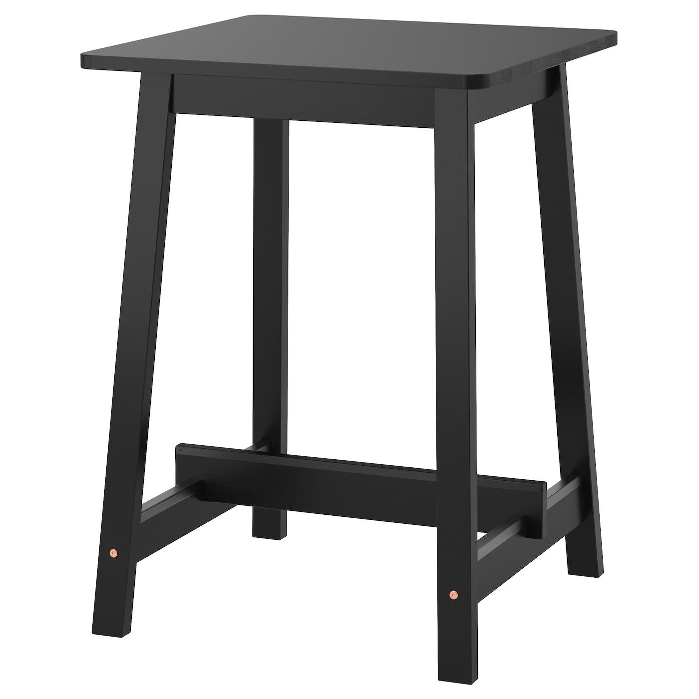 Norr ker table de bar noir 74x74 cm ikea for Table de bar noir