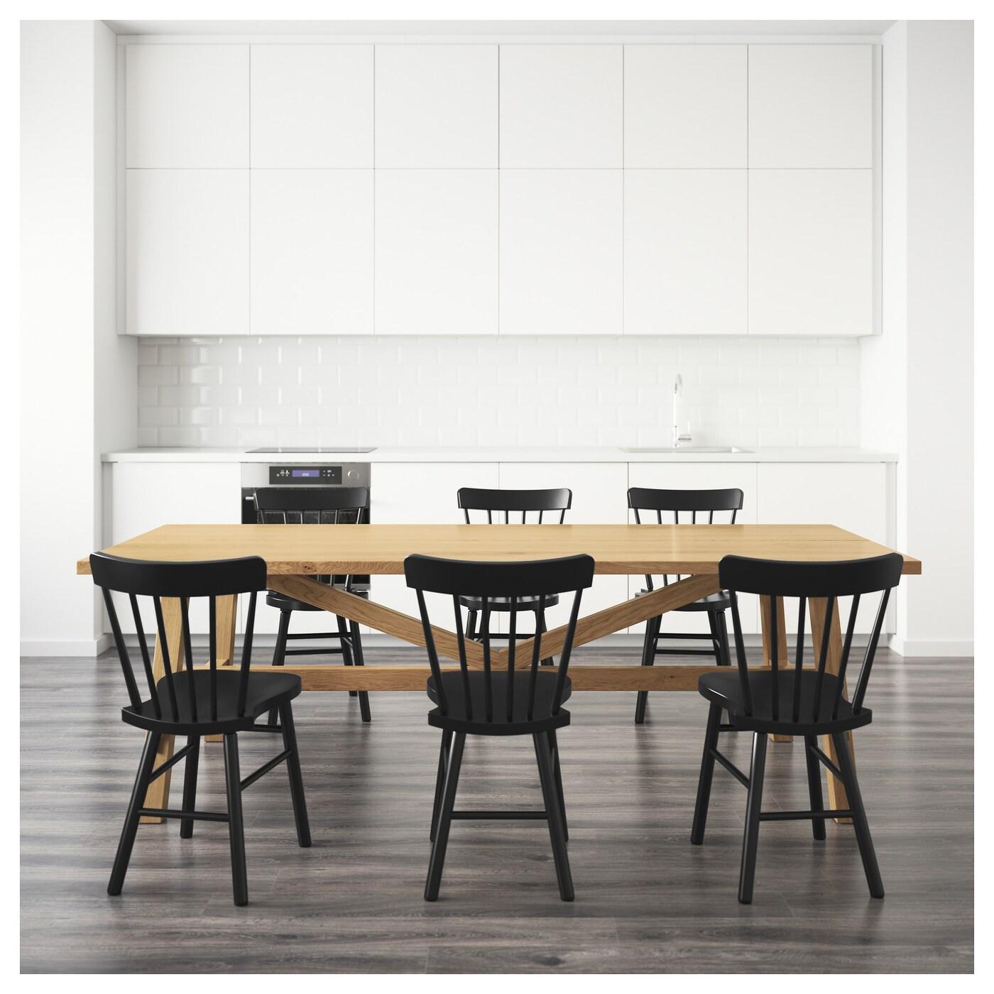 norraryd m ckelby table et 6 chaises ch ne noir 235x100 cm ikea. Black Bedroom Furniture Sets. Home Design Ideas