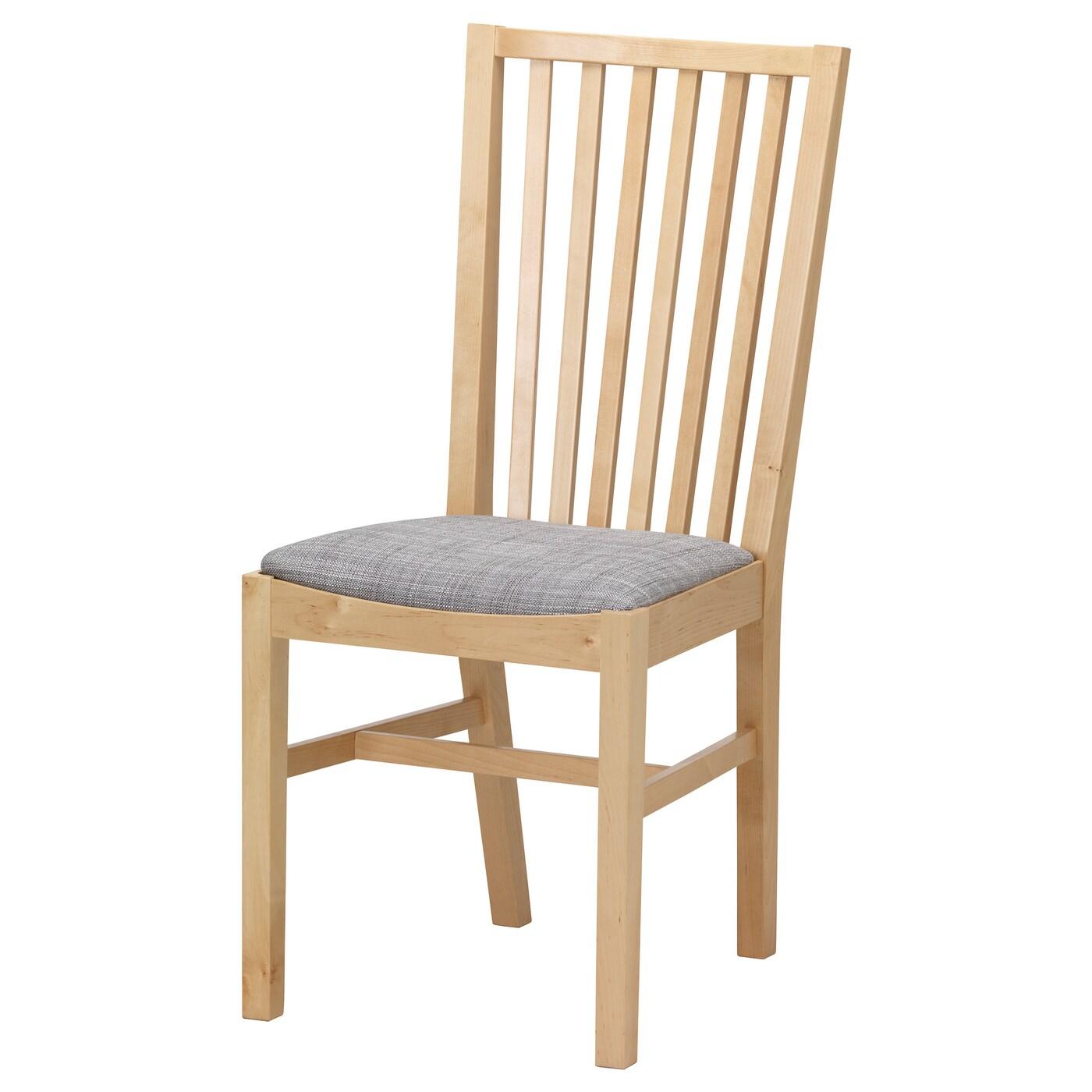 Norrn s chaise bouleau isunda gris ikea for Les 3 suisses chaises