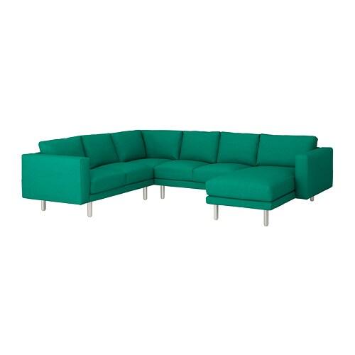 norsborg canap d 39 angle 5 places edum vert vif m tal ikea. Black Bedroom Furniture Sets. Home Design Ideas