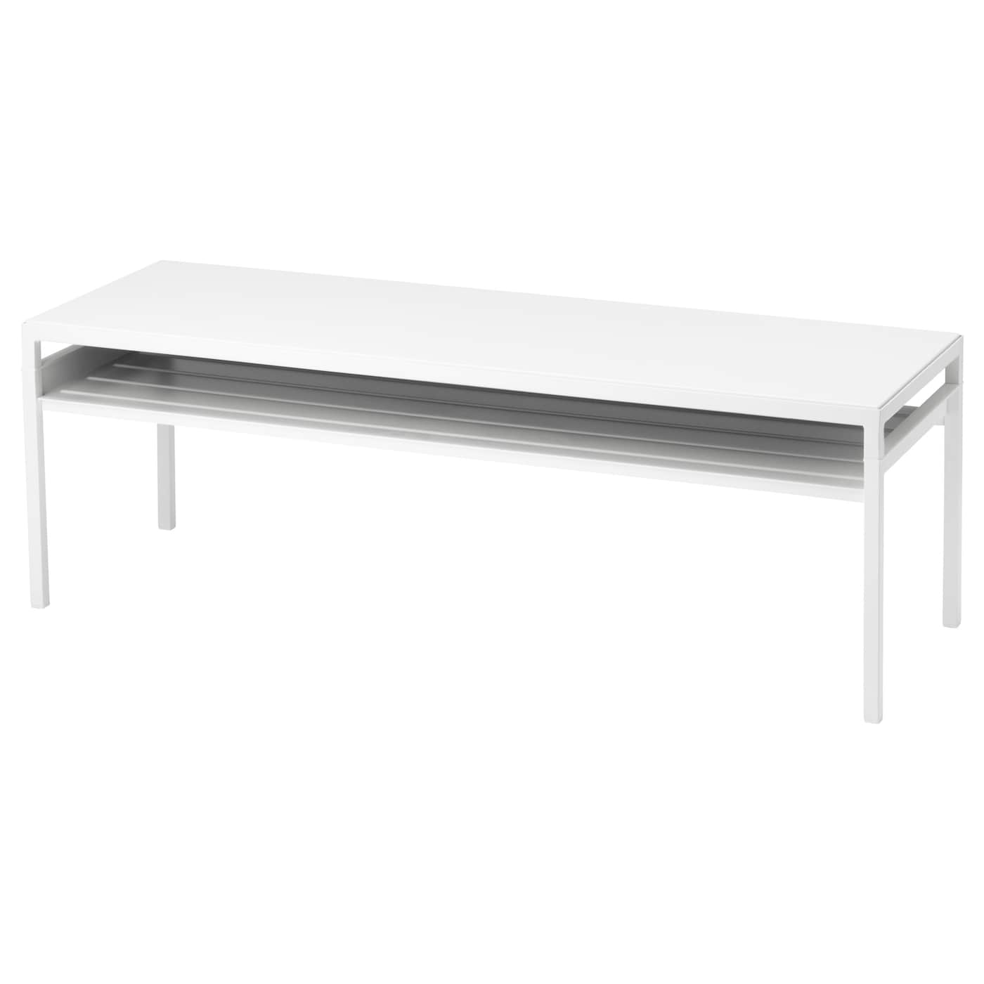 nyboda table basse avec plateau r versible blanc gris 120x40x40 cm ikea. Black Bedroom Furniture Sets. Home Design Ideas