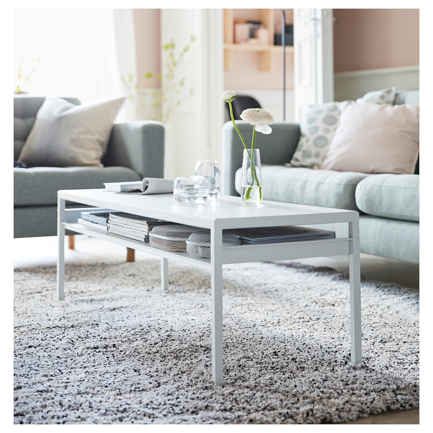 nyboda table basse avec plateau r versible blanc gris 120 x 40 x 40 cm ikea. Black Bedroom Furniture Sets. Home Design Ideas