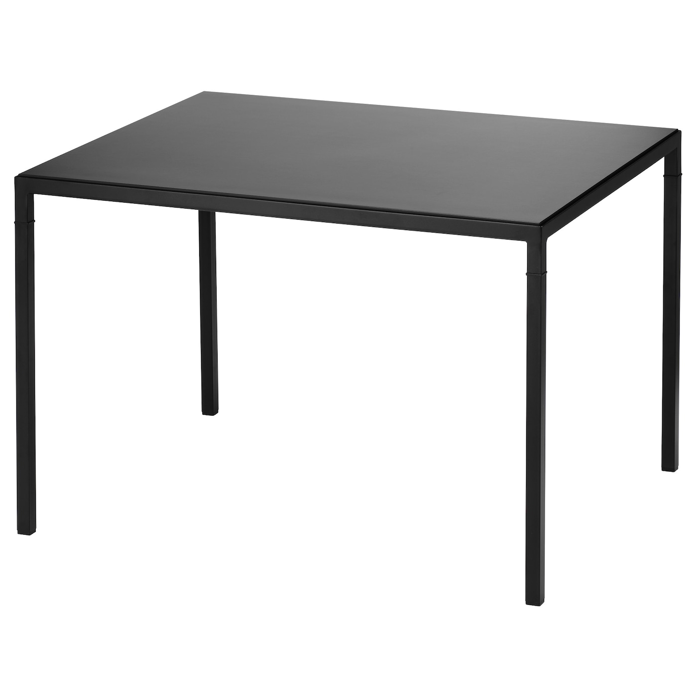 nyboda table basse avec plateau r versible noir beige 75x60x50 cm ikea. Black Bedroom Furniture Sets. Home Design Ideas