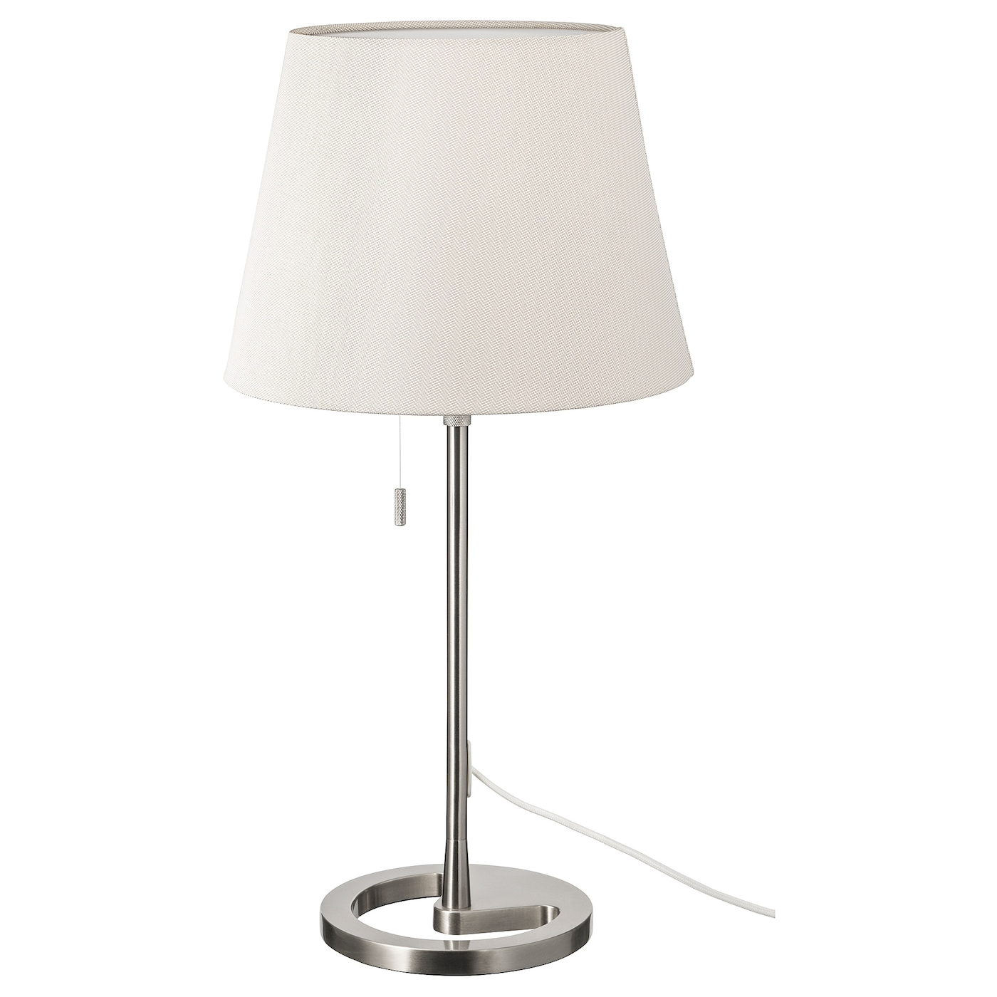 nyfors lampe de table nickel blanc ikea. Black Bedroom Furniture Sets. Home Design Ideas