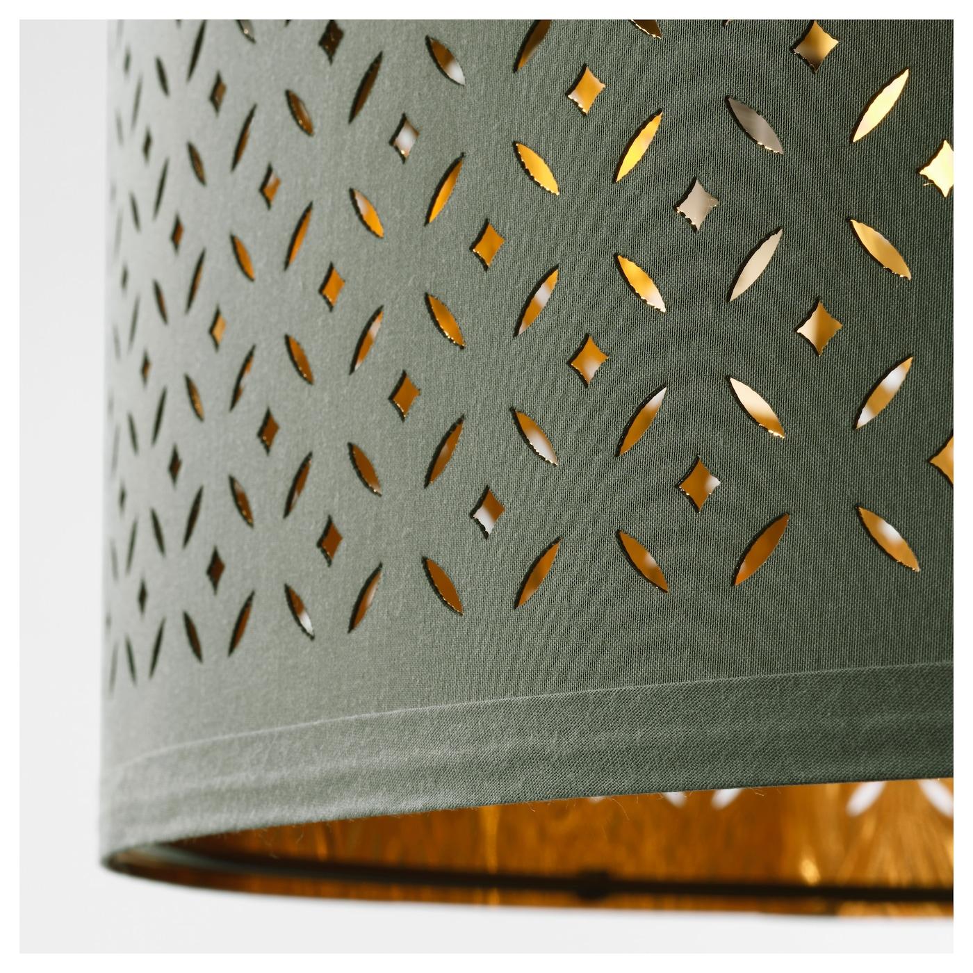 nym abat jour vert couleur laiton 24 cm ikea. Black Bedroom Furniture Sets. Home Design Ideas