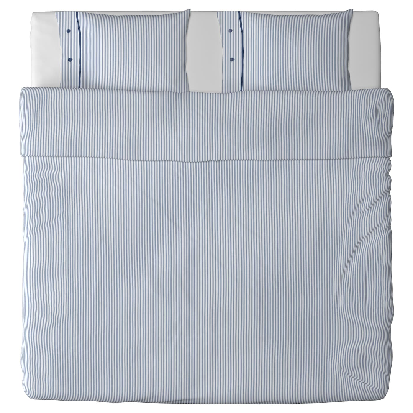 nyponros housse de couette et 2 taies blanc bleu 240x220 50x60 cm ikea. Black Bedroom Furniture Sets. Home Design Ideas