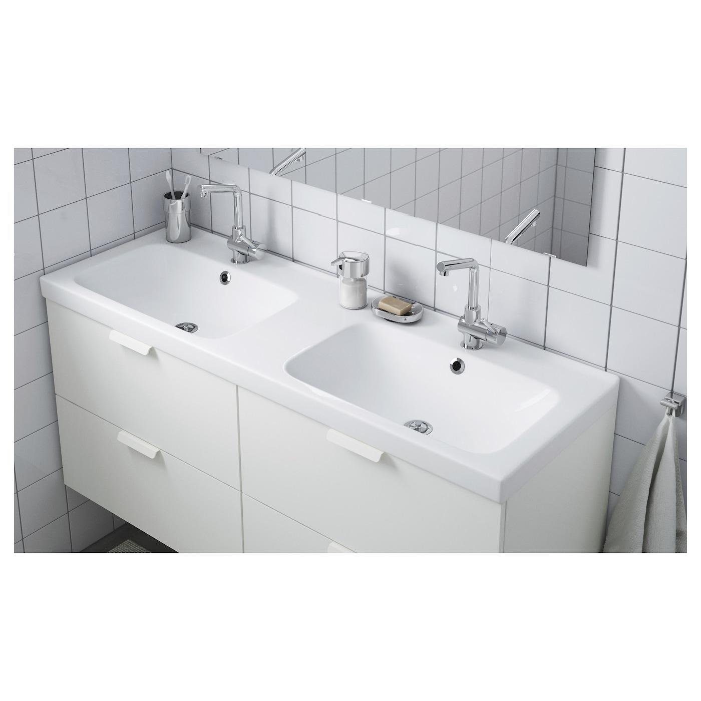 ODENSVIK Double vasque 116x116x16 cm