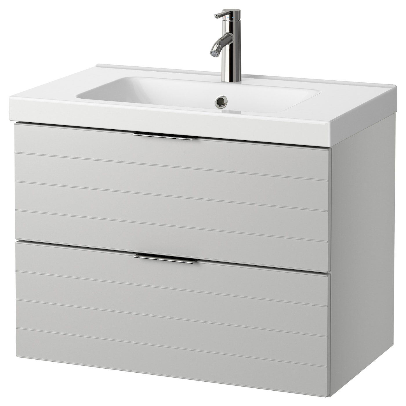 odensvik godmorgon meuble lavabo 2tir gris clair 80 x 49 x 64 cm ikea. Black Bedroom Furniture Sets. Home Design Ideas