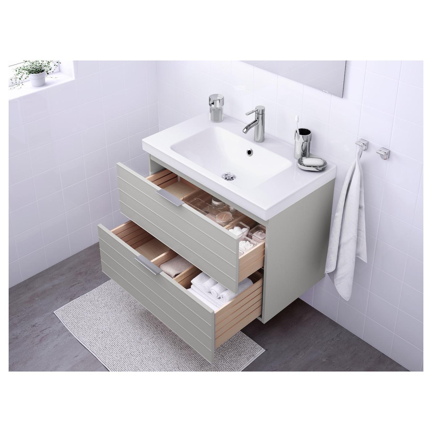 Odensvik godmorgon meuble lavabo 2tir gris clair 80x49x64 for Bathroom cabinets montreal