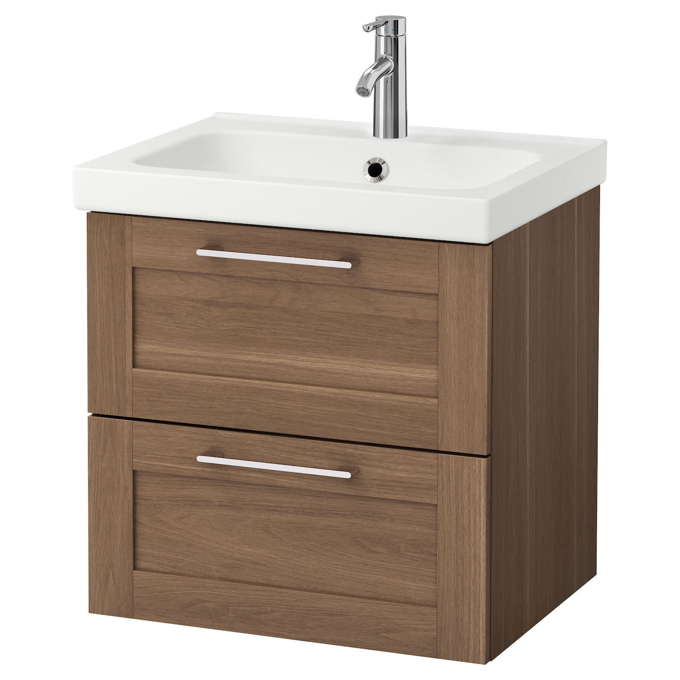 Odensvik godmorgon meuble lavabo 2tir motif noyer 60x49x64 for Lavabo plus meuble