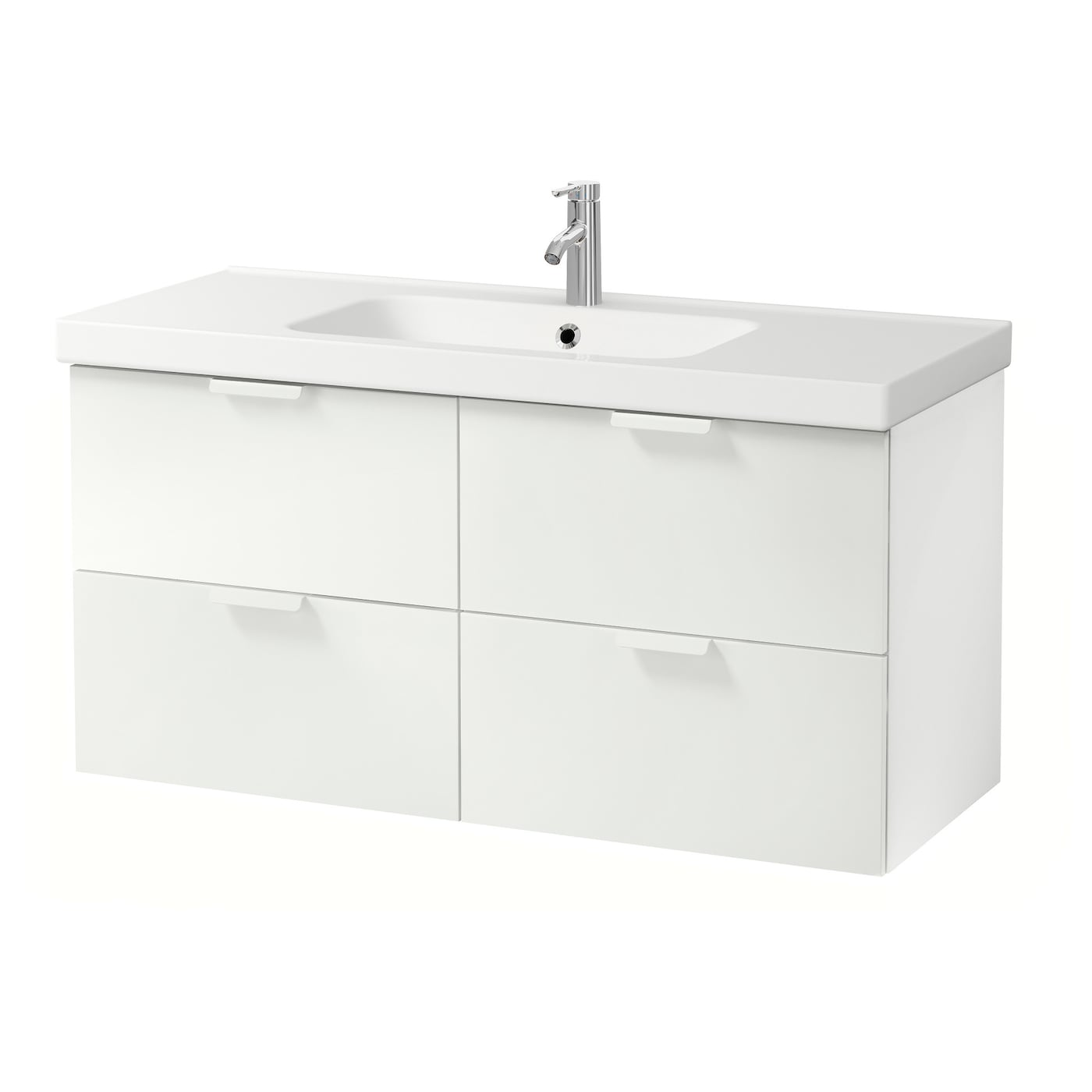 Odensvik godmorgon meuble lavabo 4tir blanc 120x49x64 cm for Lavabo plus meuble