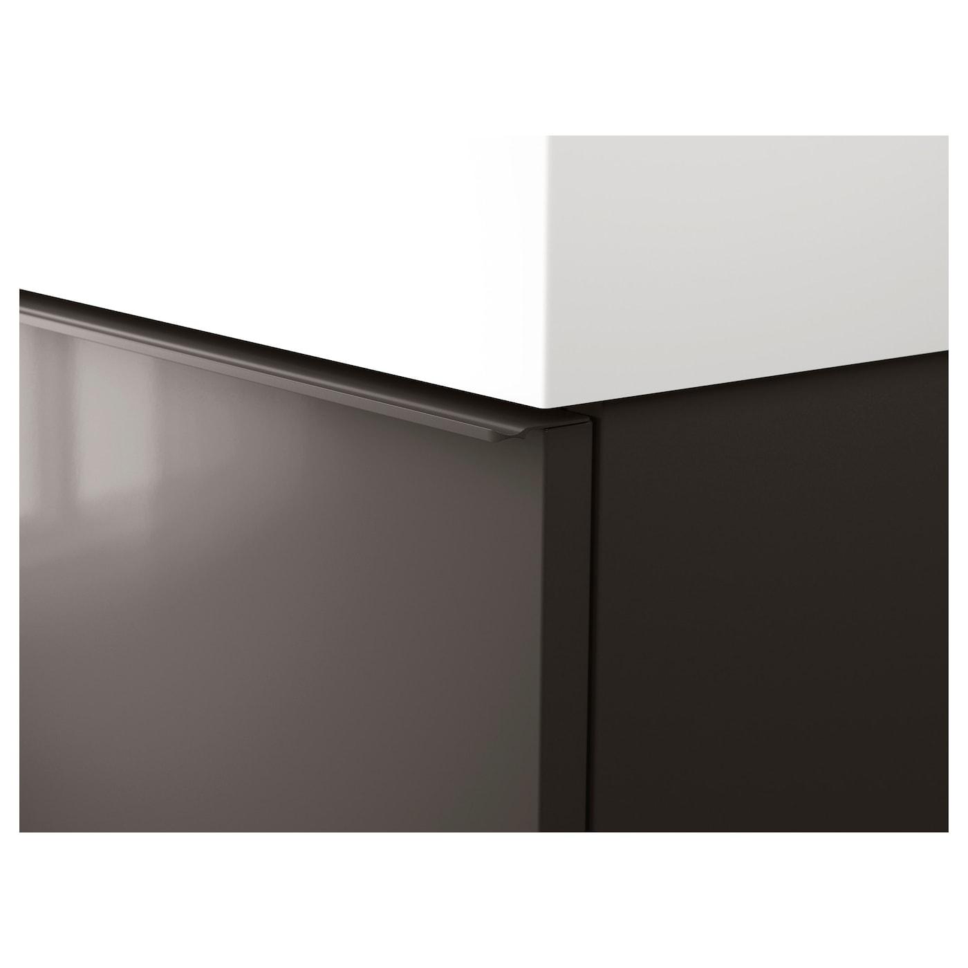 Odensvik godmorgon meuble lavabo 4tir brillant gris 120x49x64 cm ikea - Ikea meuble salle de bain godmorgon ...