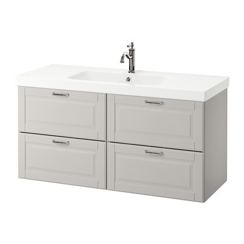 odensvik godmorgon meuble lavabo 4tir kasj n gris clair 120x49x64 cm ikea. Black Bedroom Furniture Sets. Home Design Ideas