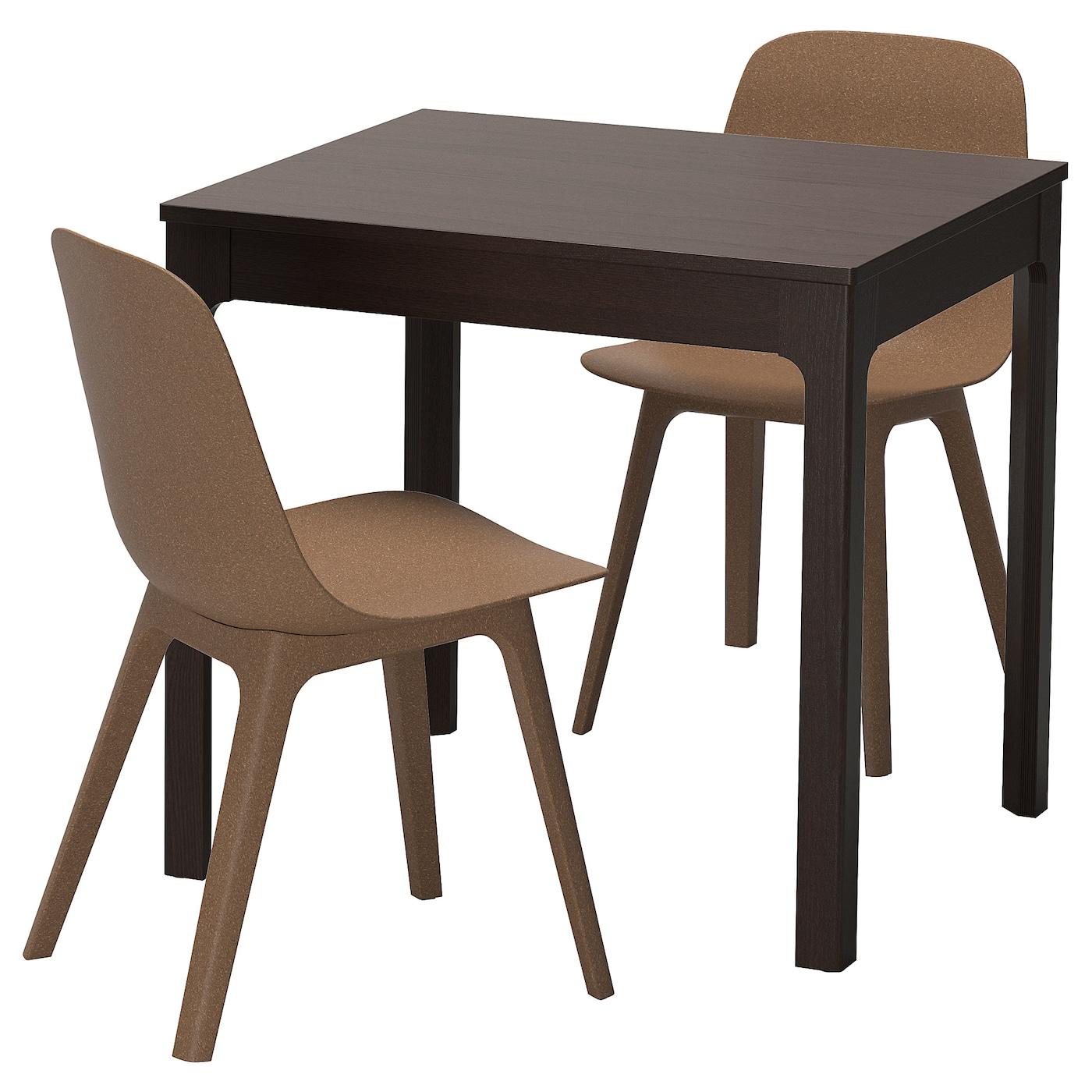 odger ekedalen table et 2 chaises brun fonc brun 80 120 cm ikea. Black Bedroom Furniture Sets. Home Design Ideas