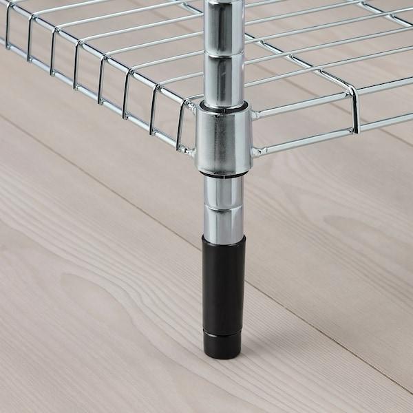 OMAR Étagère avec 3 paniers, acier zingué, 92x36x94 cm