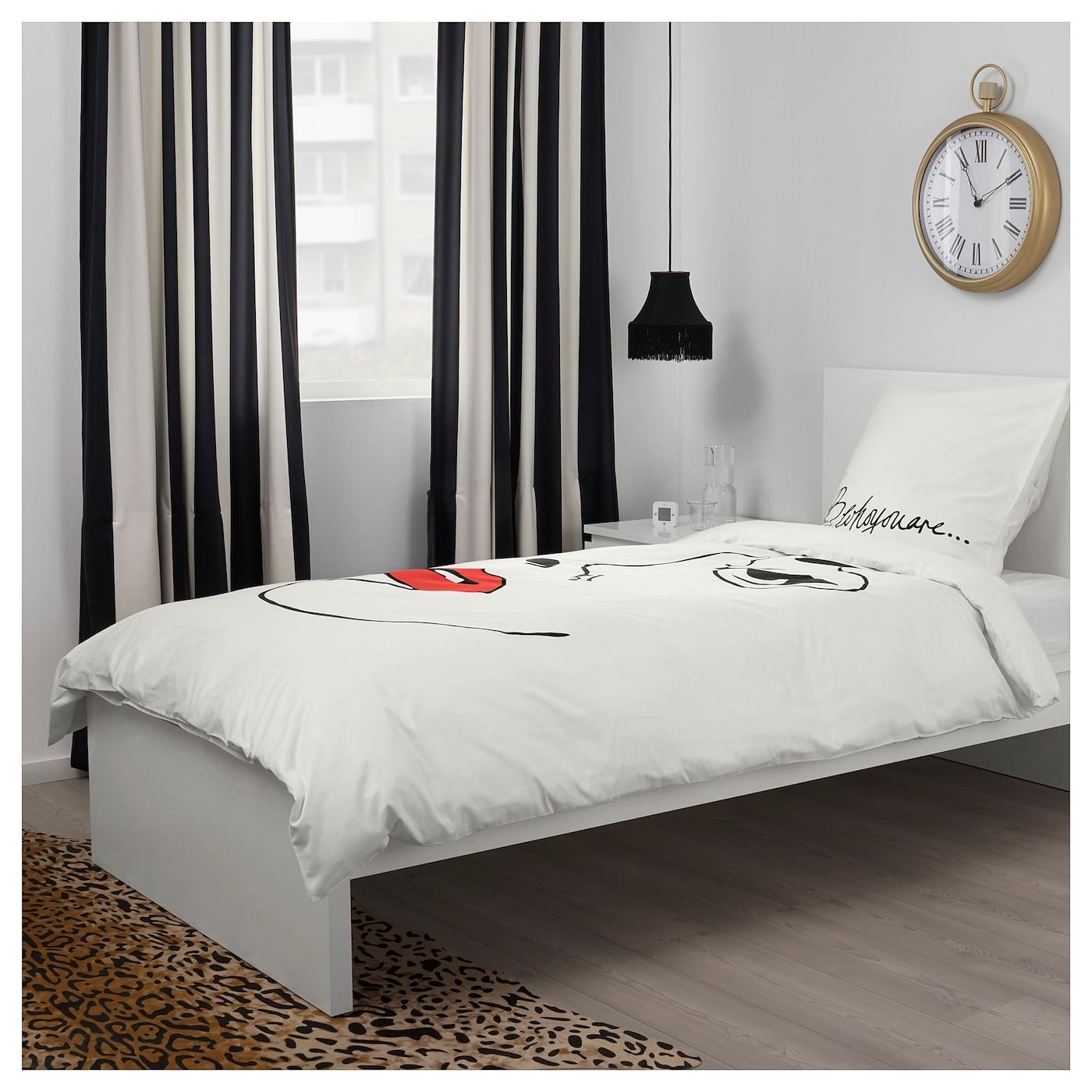 omedelbar housse de couette et taie blanc 150 x 200 50 x 60 cm ikea. Black Bedroom Furniture Sets. Home Design Ideas
