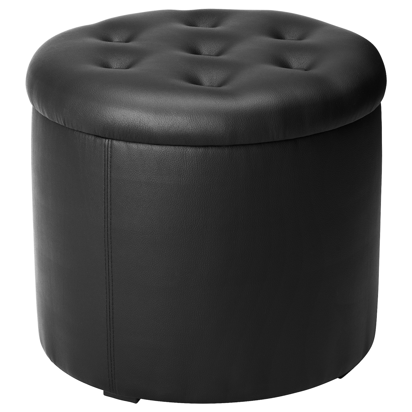 omedelbar pouf avec rangement noir ikea. Black Bedroom Furniture Sets. Home Design Ideas