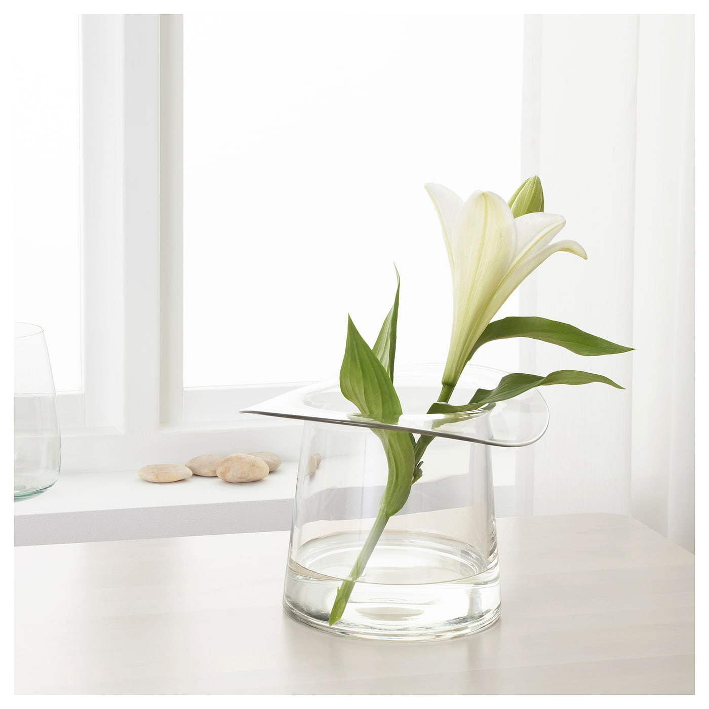 omedelbar vase verre transparent 19 cm ikea. Black Bedroom Furniture Sets. Home Design Ideas