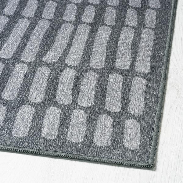 OMTÄNKSAM tapis tissé à plat gris 195 cm 133 cm 2.59 m²