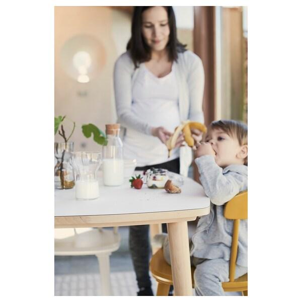 OMTÄNKSAM table blanc/bouleau 95 cm 95 cm 74 cm