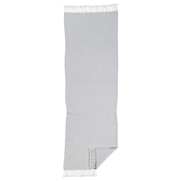 OMTÄNKSAM plaid gris clair 160 cm 60 cm