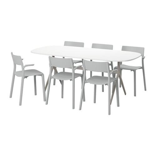 Oppeby oppmanna janinge table et 6 chaises ikea - Ensemble salle a manger ikea ...