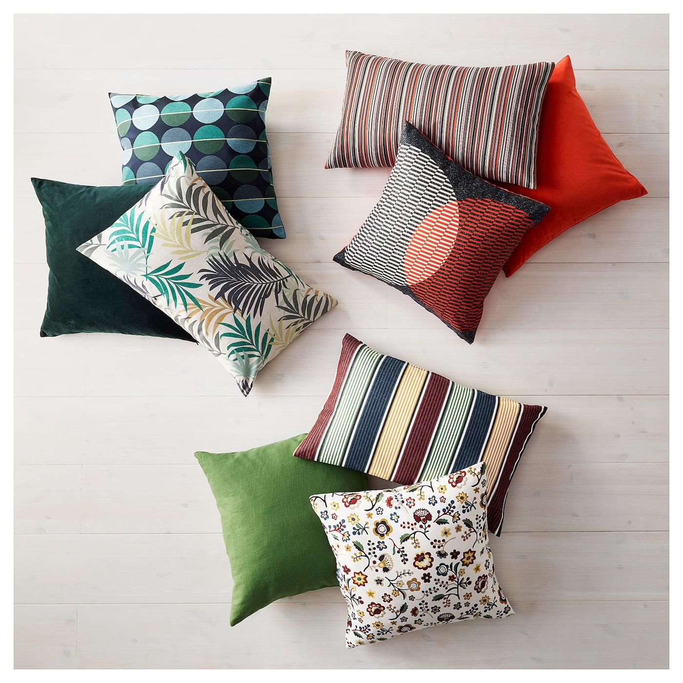 ottil housse de coussin bleu vert 50 x 50 cm ikea. Black Bedroom Furniture Sets. Home Design Ideas