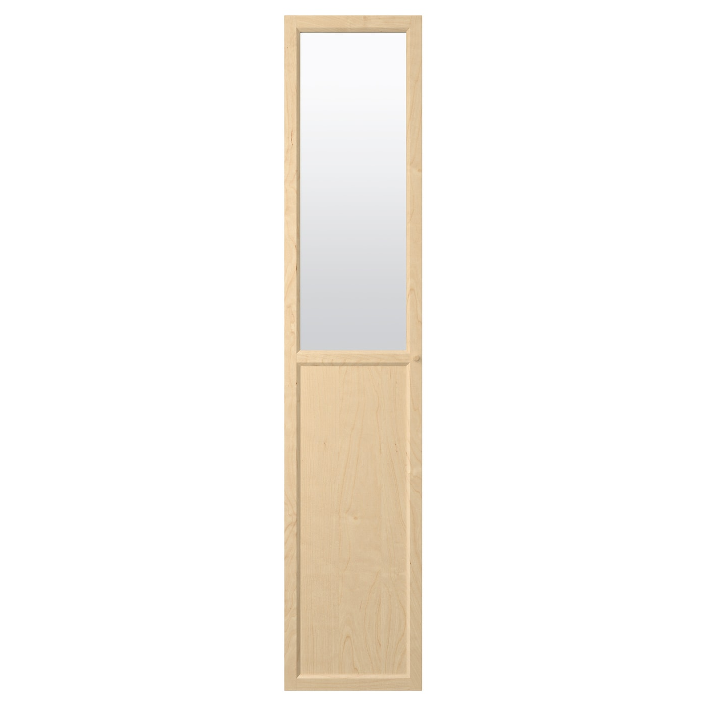 oxberg panneau porte vitr e plaqu bouleau 40x192 cm ikea. Black Bedroom Furniture Sets. Home Design Ideas